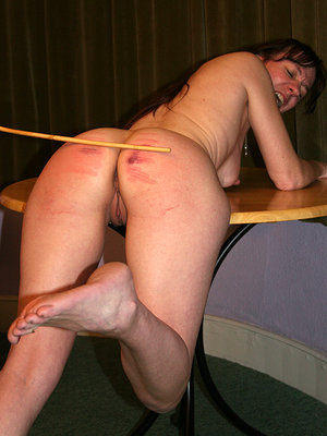 Naked Bent Over Caning