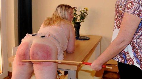 Bare bottom caned pain punishment story welts